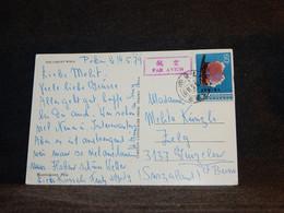 China 1979 Air Mail Card To Switzerland__(927) - Airmail