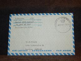 Congo 1964 UN Aerogramme To Denmark__(2485) - Oblitérés