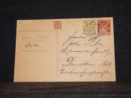 Czechoslovakia 1921 Dobrana Stationery Card To Germany__(644) - Postales