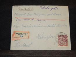 Czechoslovakia 1924 Karlovy Registered Cover To Finland__(3006) - Cartas