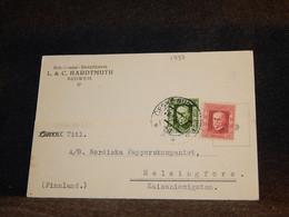 Czechoslovakia 1925 Budweis Card To Finland__(1797) - Cartas