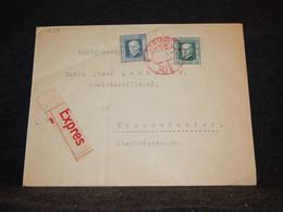 Czechoslovakia 1925 Express Cover To Austria__(1533) - Cartas
