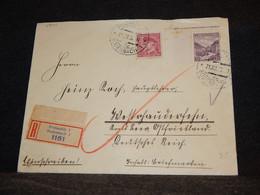 Czechoslovakia 1934 Podmokly Registered Cover__(1801) - Cartas