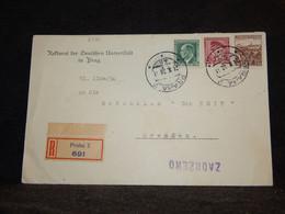 Czechoslovakia 1938 Praha Registered Cover To Dresden__(2426) - Briefe U. Dokumente