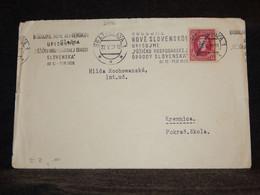 Czechoslovakia 1939 Bratislava Cover To Kremnica__(2996) - Briefe U. Dokumente