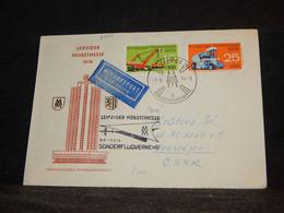 DDR 1974 Leipzig Air Mail Cover To Czechoslovakia__(2000) - Cartas
