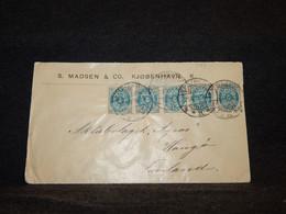 Denmark 1895 Köbenhavn Business Cover To Finland__(785) - Lettres & Documents