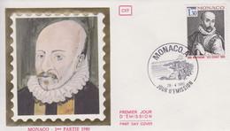 Enveloppe  FDC  1er  Jour   MONACO   MONTAIGNE    1980 - FDC