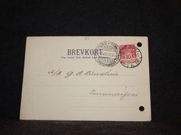 Denmark 1912 Köbenhavn Perfin Stamp Card To Finland__(68) - Briefe U. Dokumente