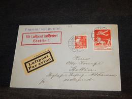 Denmark 1927 Köbenhavn Air Mail Cover To Stettin__(1904) - Aéreo