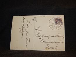 Denmark 1937 K.P.K. Overprint Stamp Postcard__(3582) - Briefe U. Dokumente