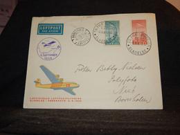 Denmark 1938 Slagelse Air Mail Cover To Nexö__(3689) - Aéreo