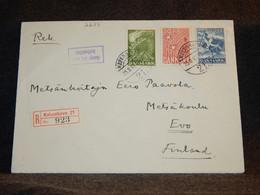 Denmark 1941 Köbenhavn Registered Cover To Finland__(2675) - Briefe U. Dokumente