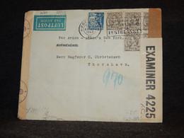 Denmark 1943 Köbenhavn Censored Air Mail Cover To Faroe Island__(2190) - Aéreo