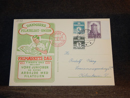 Denmark 1943 Nyköping Filatelist Thematic Card__(1573) - Briefe U. Dokumente