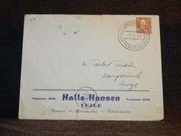 Denmark 1943 Vejle Halle-Hansen Business Cover__(720) - Briefe U. Dokumente
