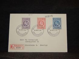 Denmark 1945 Köbenhavn Registered Cover To Sweden__(2655) - Briefe U. Dokumente