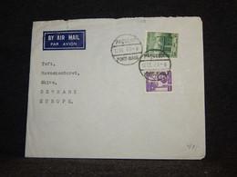 Egypt 1950's Air Mail Cover To Denmark__(178) - Aéreo