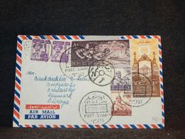 Egypt 1957 Port Said Air Mail Cover To Denmark__(157) - Aéreo
