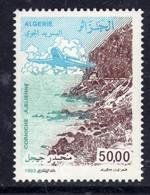 Algérie P. A. N° 24 XX  : 50 D. Paysage Algérien : Corniche Djidjelienne Et Avion En Vol, Sans Charnière, TB - Poste Aérienne