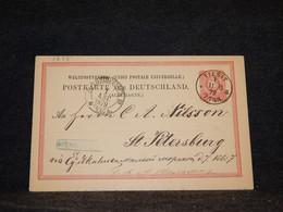 Germany 1879 Tilsit 10pf Red Stationery Card To Russia__(1235) - Postwaardestukken