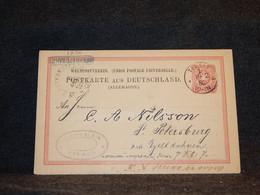 Germany 1880 Tilsit 10pf Red Stationery Card To Russia__(1236) - Postwaardestukken