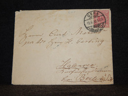 Germany 1890 Gera Cover__(627) - Covers & Documents