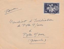 BELGIQUE SEUL SUR LETTRE POUR LA FRANCE 1957 - Cartas