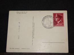 Germany 1942 Munchen Hittler Stamp Postcard__(301) - Cartas