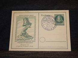 Germany BRD 1951 Berlin Special Cancellation Stationery Card__(3396) - Postales - Usados