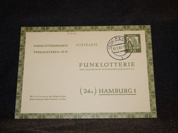 Germany BRD 1962 Peine Stationery Card To Hamburg__(3446) - Postales - Usados