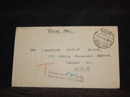 Gold Coast 1947 Accra Postage Due Forces Mail Cover To USA__(3898) - Costa De Oro (...-1957)