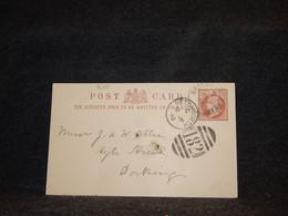 Great Britain 1890 Brockham Half Penny Brown Stationery Card__(3625) - Luftpost & Aerogramme