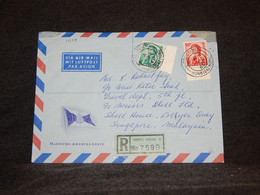 Hong Kong 1965 Registered Air Mail Cover To Singapore__(1417) - Briefe U. Dokumente