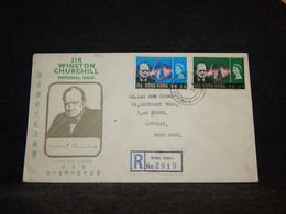 Hong Kong 1966 Wan Chai Registered Cover__(992) - Briefe U. Dokumente