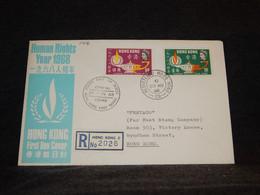 Hong Kong 1968 Registered FDC Cover__(1416) - Briefe U. Dokumente