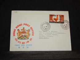 Hong Kong 1969 Chicken Stamp Cover__(1423) - Briefe U. Dokumente