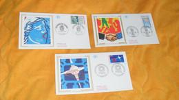 LOT 3 ENVELOPPES FDC DE 1995../ JOURNEE DU TIMBRE LA MARIANNE DE GANDON, COMITES D'ENTREPRISE, CENTENAIRE DE L'ECOLE SUP - 1990-1999