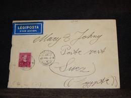 Hungary 1931 Budapest Air Mail Cover To Egypt__(2976) - Briefe U. Dokumente