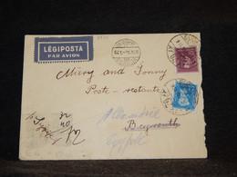 Hungary 1934 Budapest Air Mail Cover To Egypt__(2975) - Briefe U. Dokumente