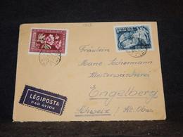 Hungary 1950 Air Mail Cover To Switzerland__(1503) - Briefe U. Dokumente