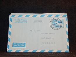 Israel 1963 Aerogramme To Switzerland__(1142) - Cartas