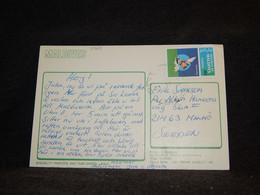 Maldives 1980's Postcard To Sweden__(3769) - Maldivas (1965-...)