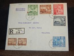 Malta 1938 Valletta Registered Cover__(3254) - Malta (...-1964)