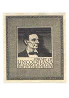 Abraham Lincoln Vintage Bookplate Writer Lecturer Artist Postcard - Schrijvers