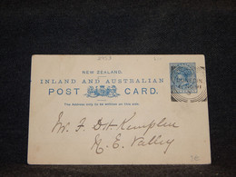 New Zealand 1891 1p Blue Stationery Card__(2953) - Entiers Postaux