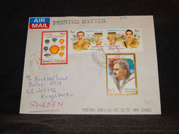 Pakistan 2001 Air Mail Cover To Sweden__(2554) - Pakistan