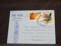 Papua New Guinea 1975 Aerogramme To Finland__(3206) - Papua New Guinea