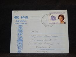 Papua New Guinea 1978 Aerogramme To Finland__(3212) - Papua New Guinea