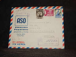 Peru 1950 Air Mail Cover To Czechoslovakia__(3204) - Perù